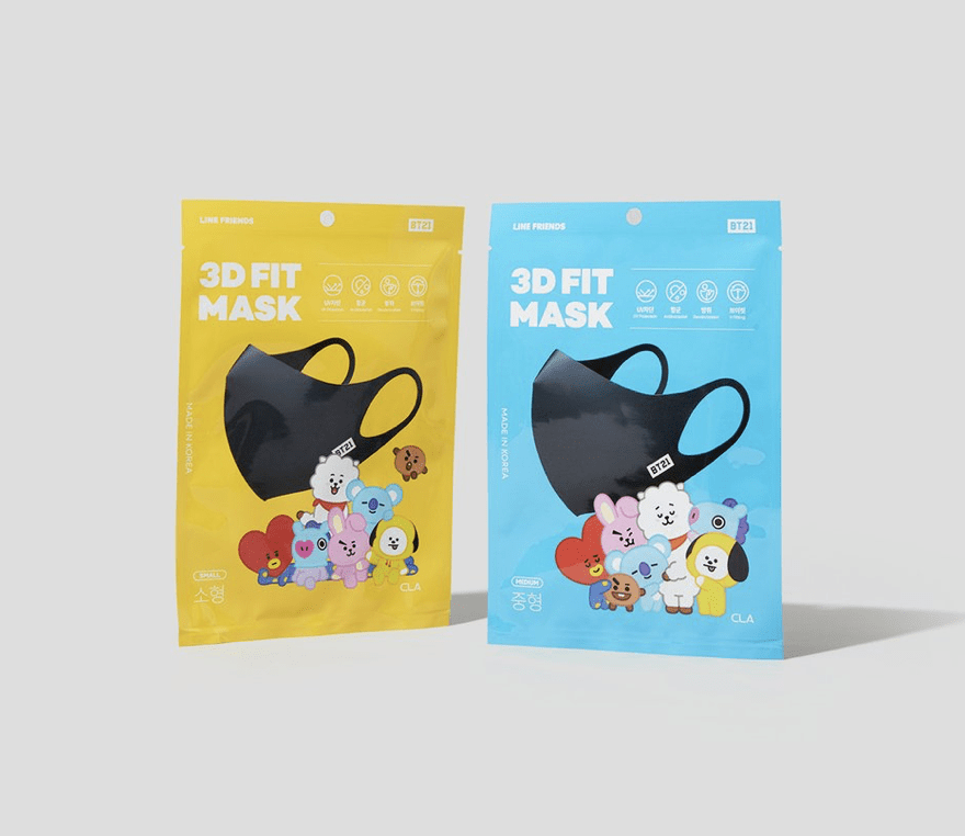Line Friends BT Reusable 3D Fit Mask Coming up on 2020.05.11