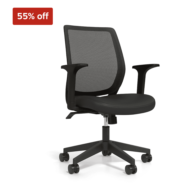 Staples: Essentials Mesh Back Fabric Task Chair For .99
