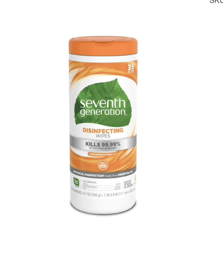 Vitacost: Seventh Generation 35-wipes for .49