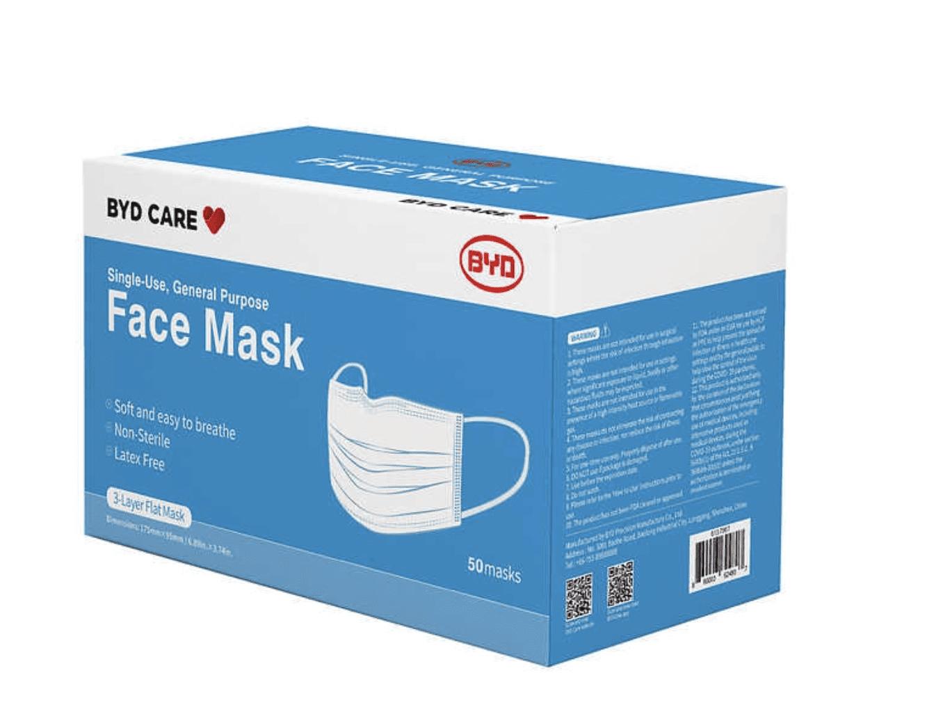 Costco: Single Use Face Mask, 50 Masks for .99