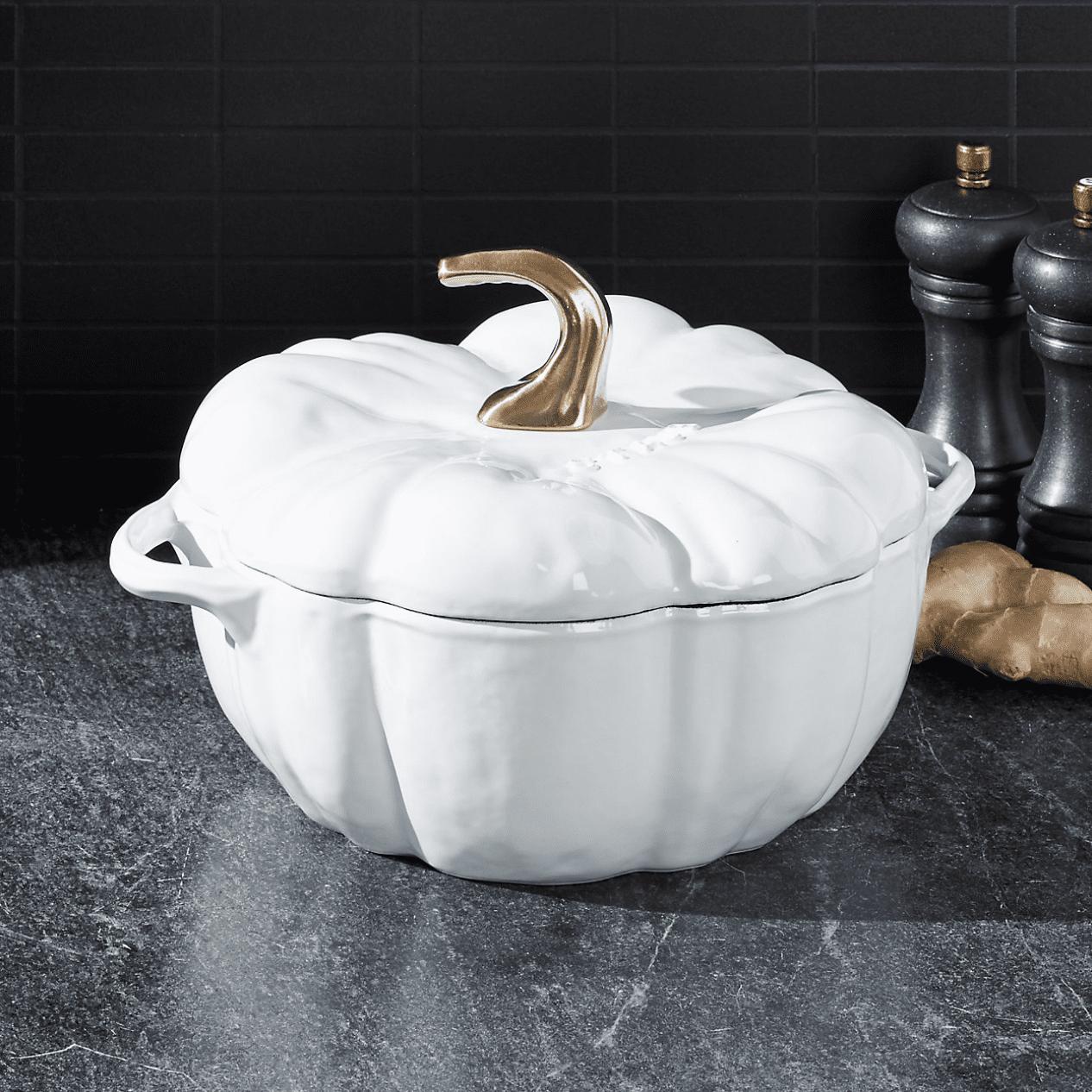 Staub 3.5-qt white pumpkin cocotte for 9.99
