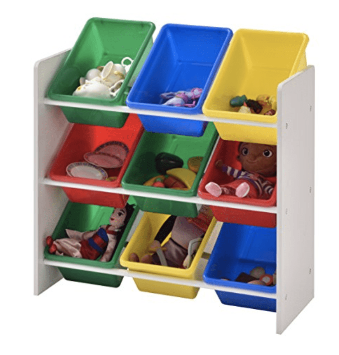 Muscle Rack Kids Storage Organizer with 9 Bins for .48