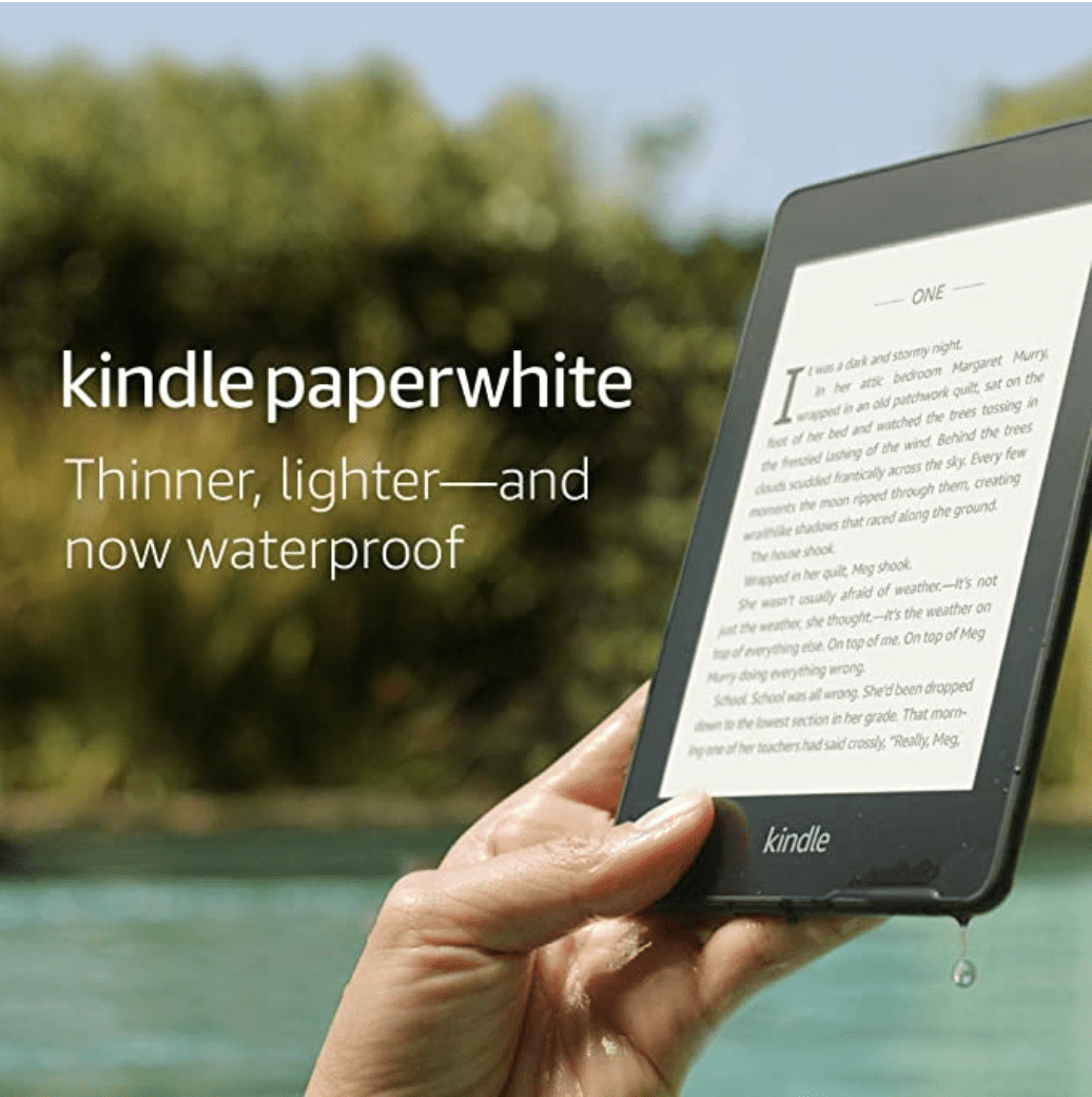 Amazon: 8GB Kindle Paperwhite Waterproof for .99