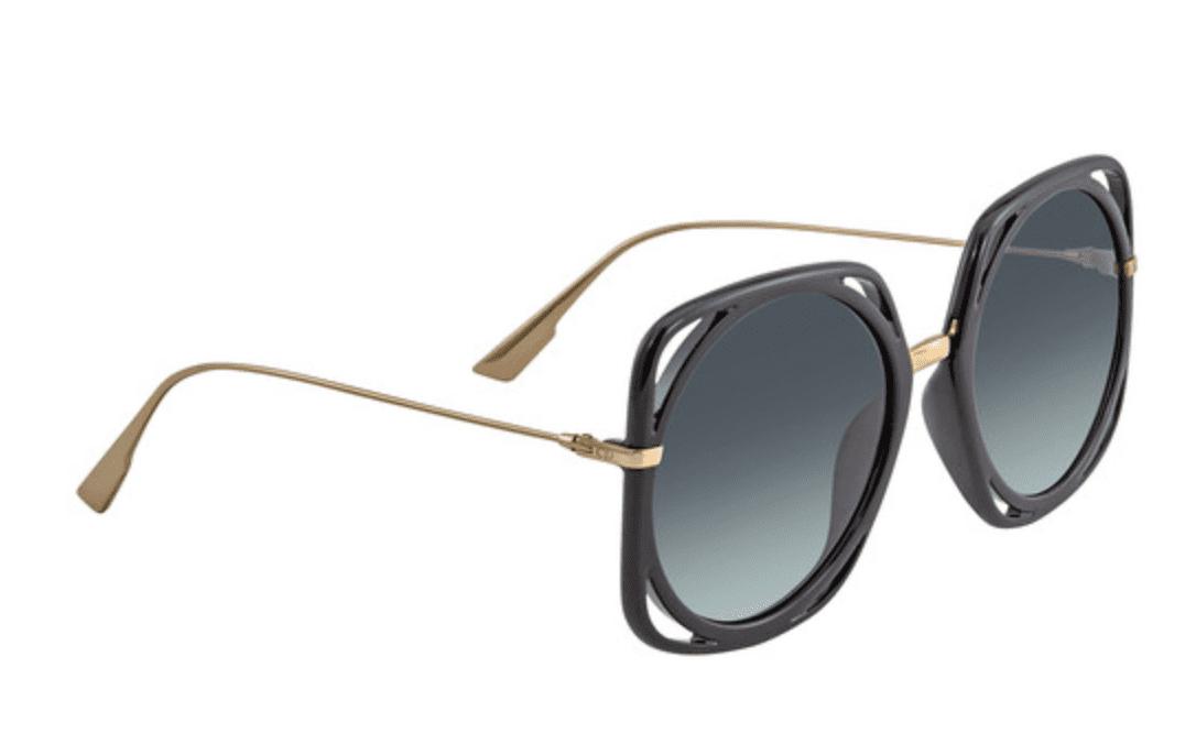 Dior Black/Gold Square Ladies Sunglasses for 9.99