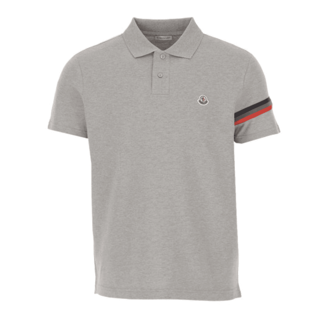 Moncler Men's Reflective Stripes Polo Shirt for 9.99