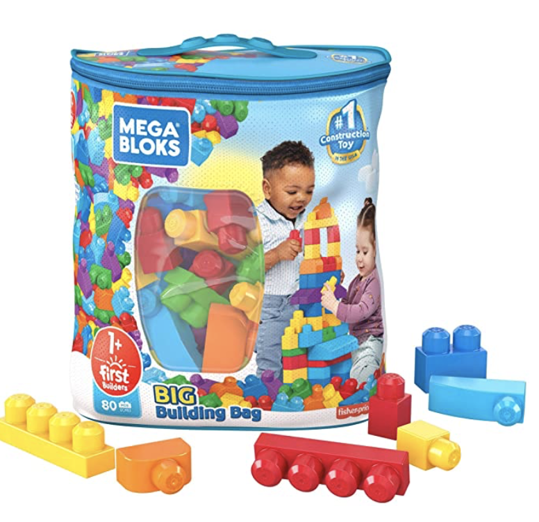 Mega Blocks Big Building Bag (80 Piece) for .99