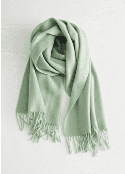 & Other Stories: Wool Fringed Blanket Scarf for