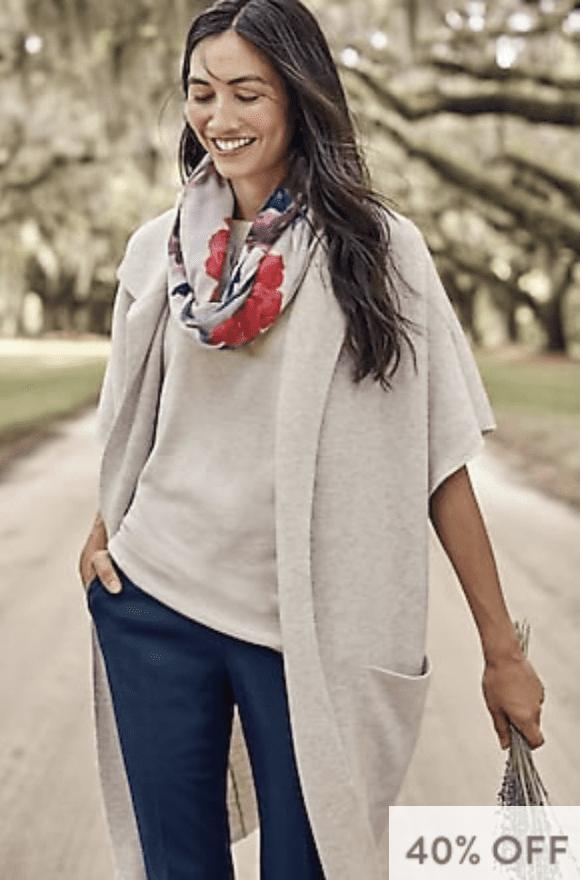 J.Jill: 40% off full-price + extra 30% off sale styles