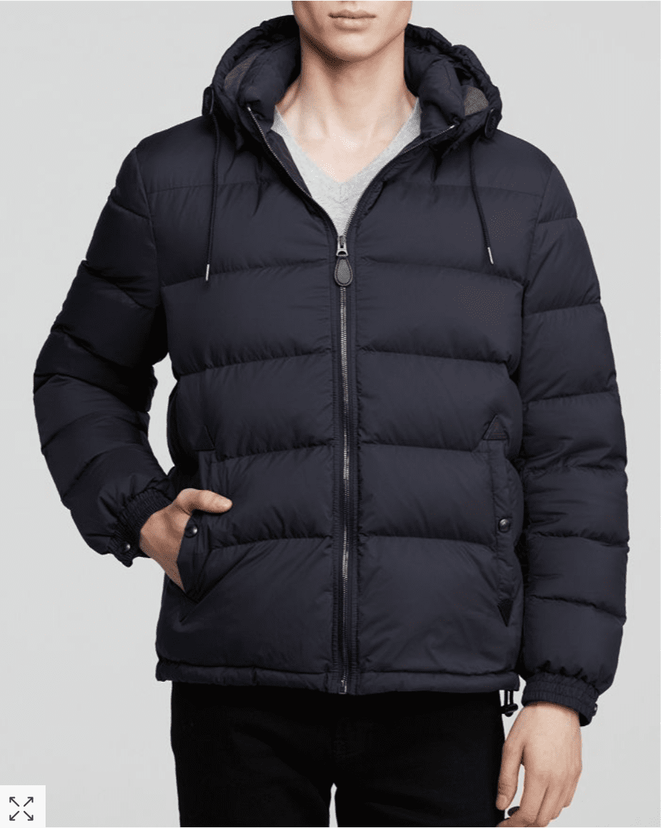 Burberry Basford Down Jacket for 9.99