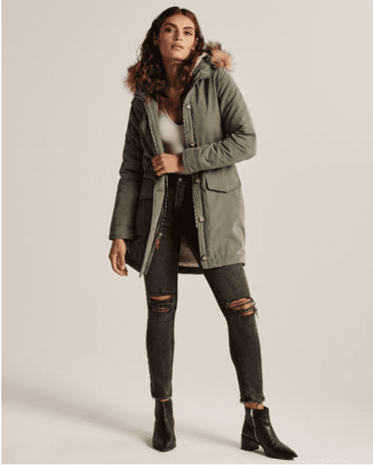 Abercrombie & Fitch: 40% off Parka jacket +25% off