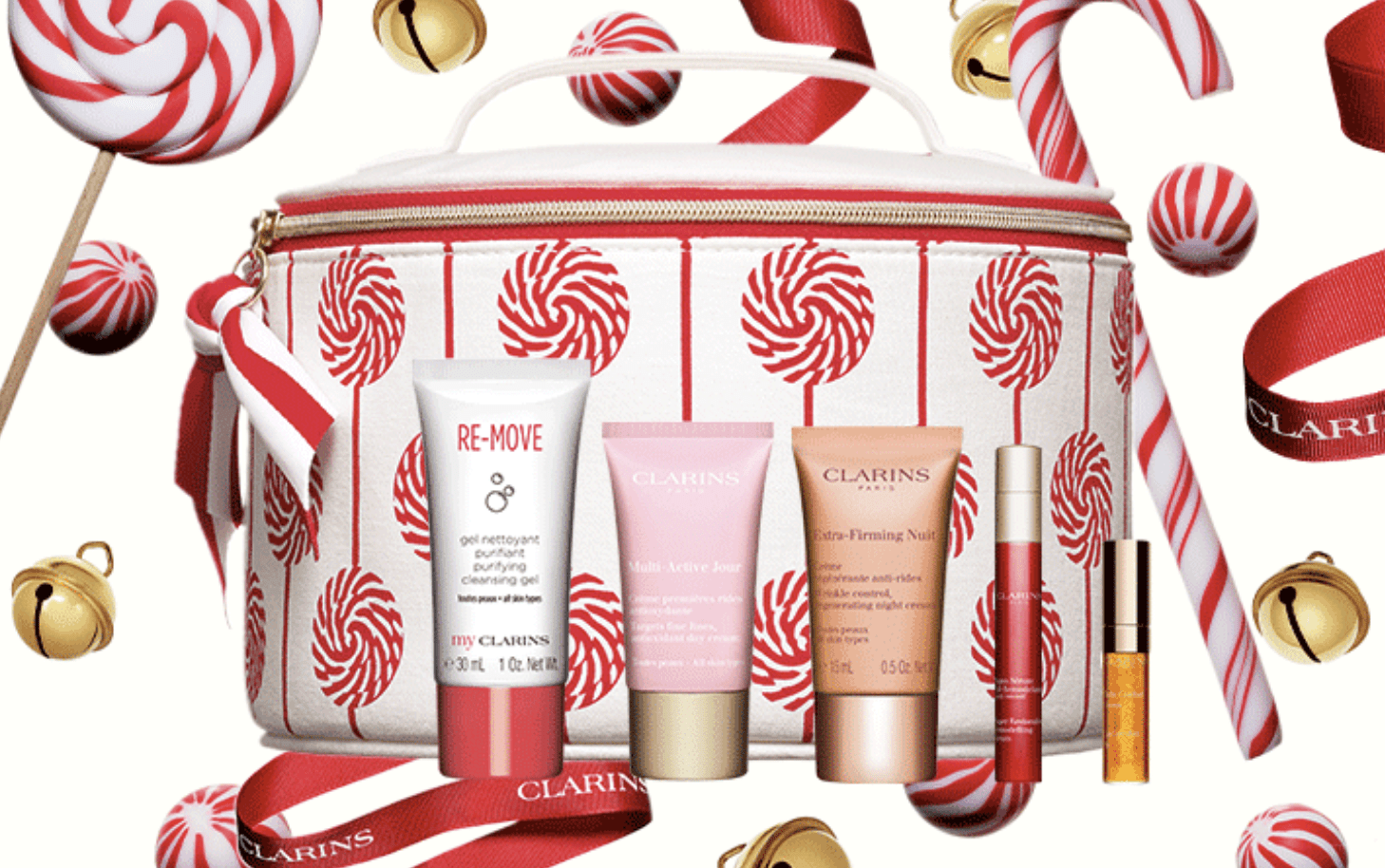 Clarins:  3 Value gift + 5-pc gift with 5 purchase