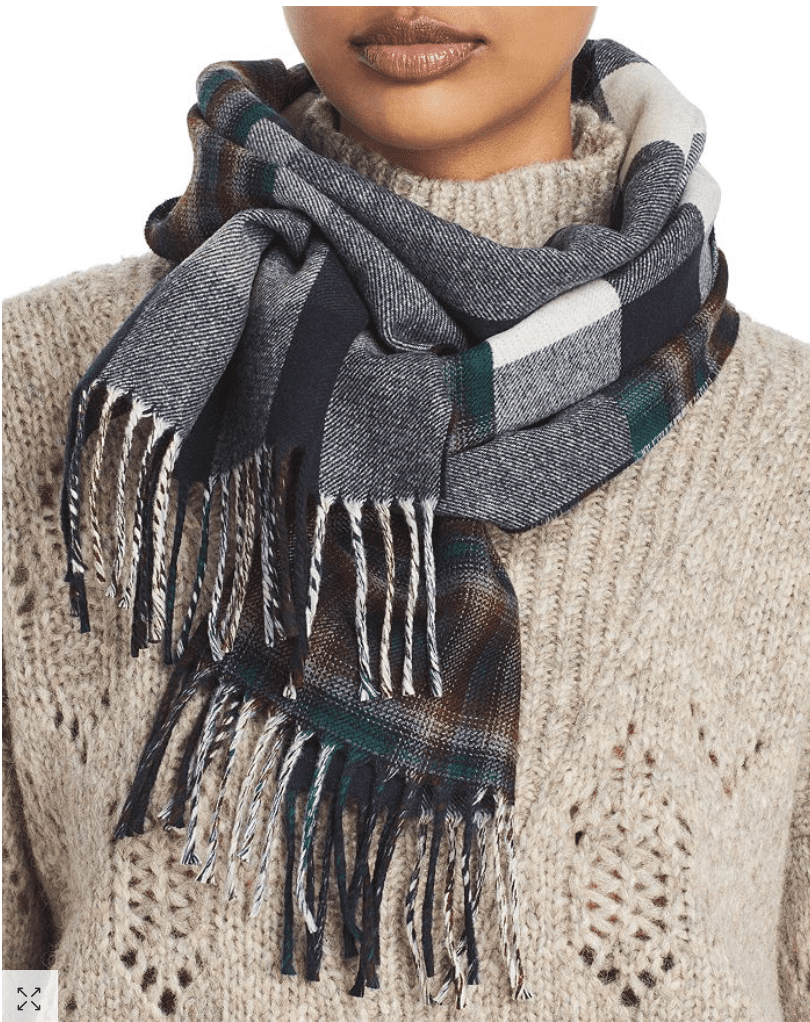 Burberry Plaid Wool Reversible Scarf 9