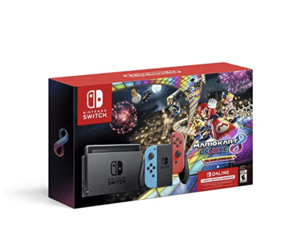 Nintendo Switch + Mario Kart 8 + 3 Month Membership for 9