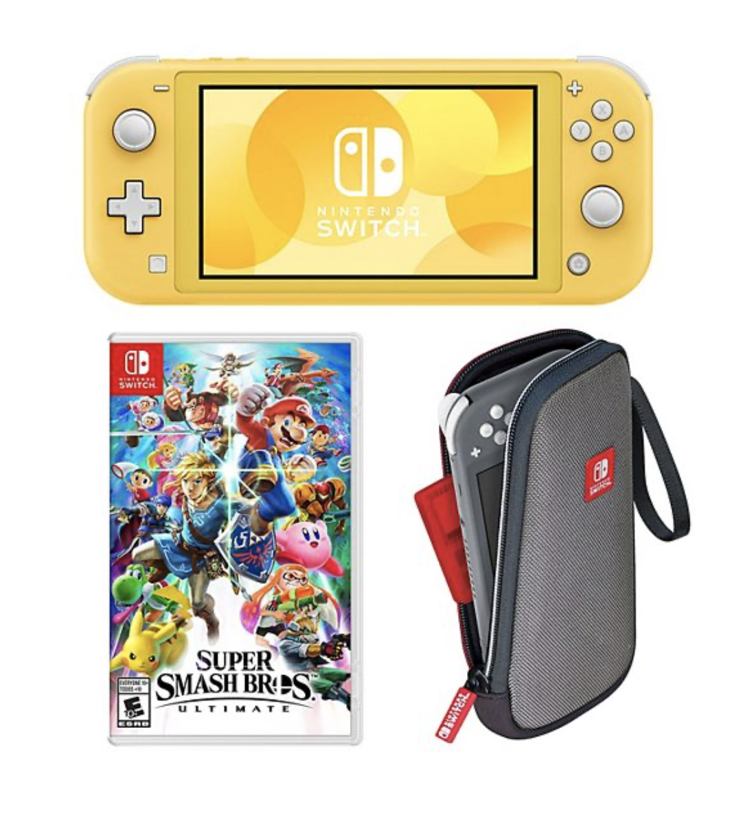 Nintendo With Lite Console & Super Smash Bros for 9.99