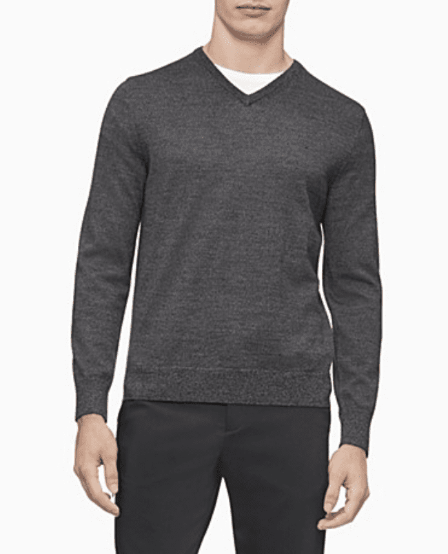 Macy's: Calvin Klein merino Sweater .97