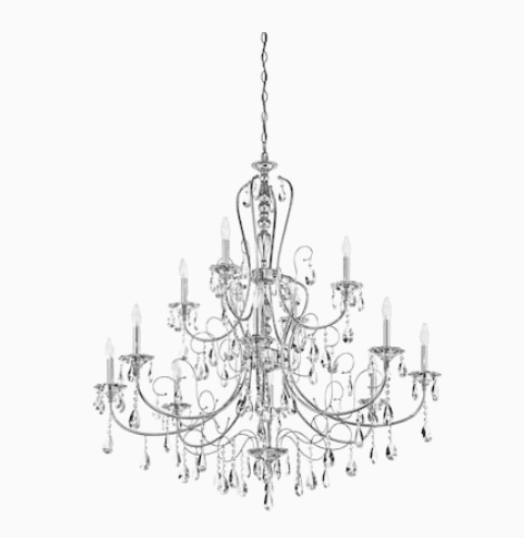 Lowes: Kichler Jules 12-Light Chrome Traditional Chandelier 7