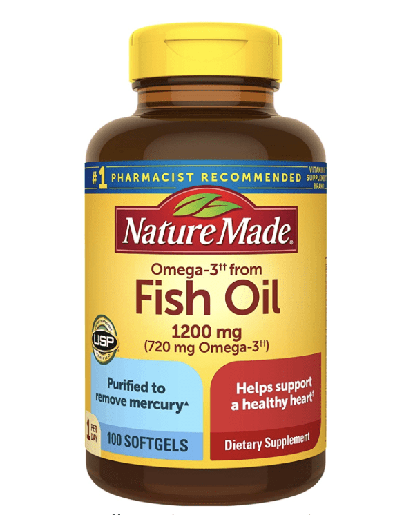 Amazon: Nature Made Fish Oil 1200mg 2 for 9.58