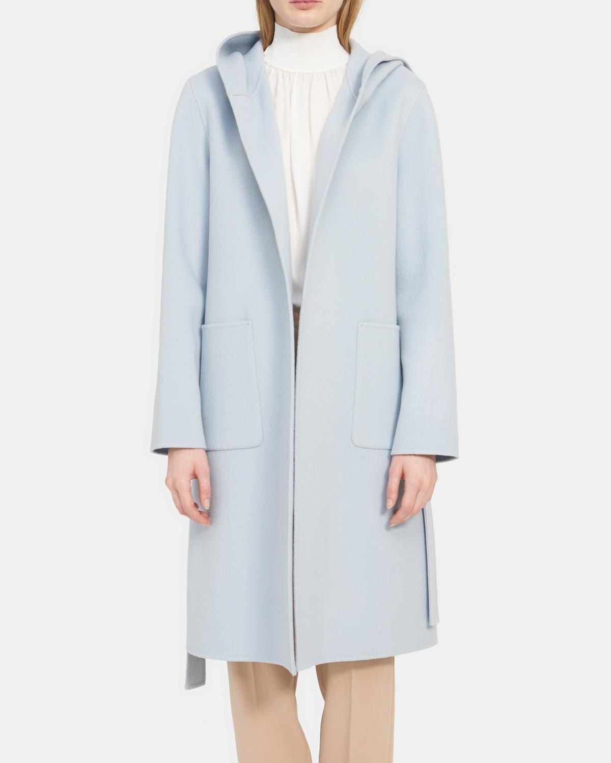 Theory Outlet: Hooded Robe Coat wool-cashmere 9
