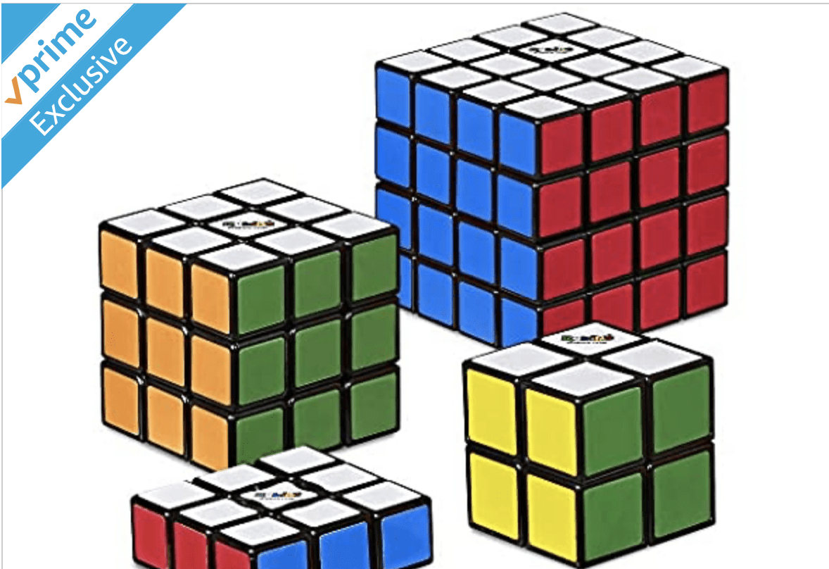 Woot: Hasbro Gaming Rubik's Solve The Cube Bundle 4 pack for