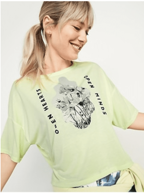 Old Navy: Up to 75% off Clearance + extra 25% off.