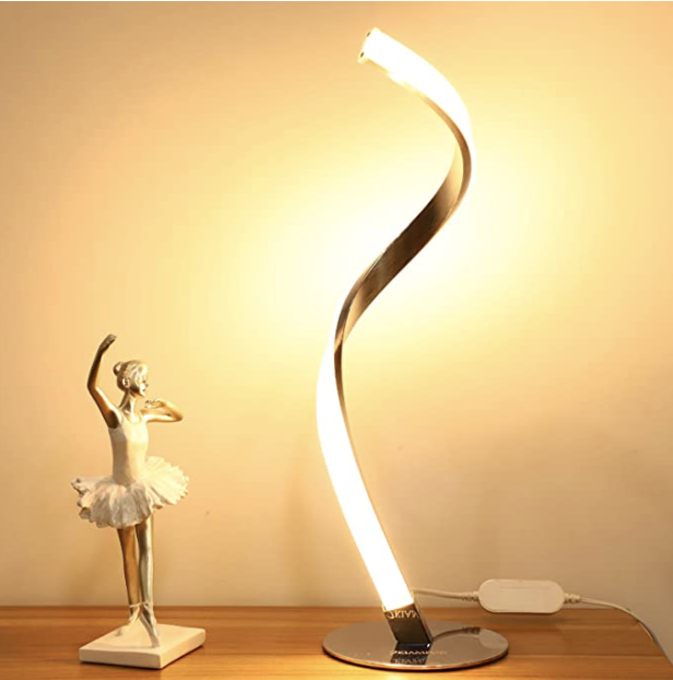 Amazon: Modern Spiral LED Table Lamp for .17