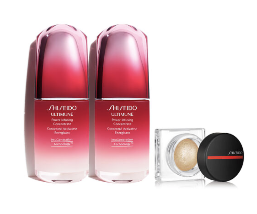 Shiseido: Ultimune 50ml Duo + Free AuraDwe Gold for 0