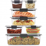 Rubbermaid Brilliance Storage 14-piece Plastic Lids for .