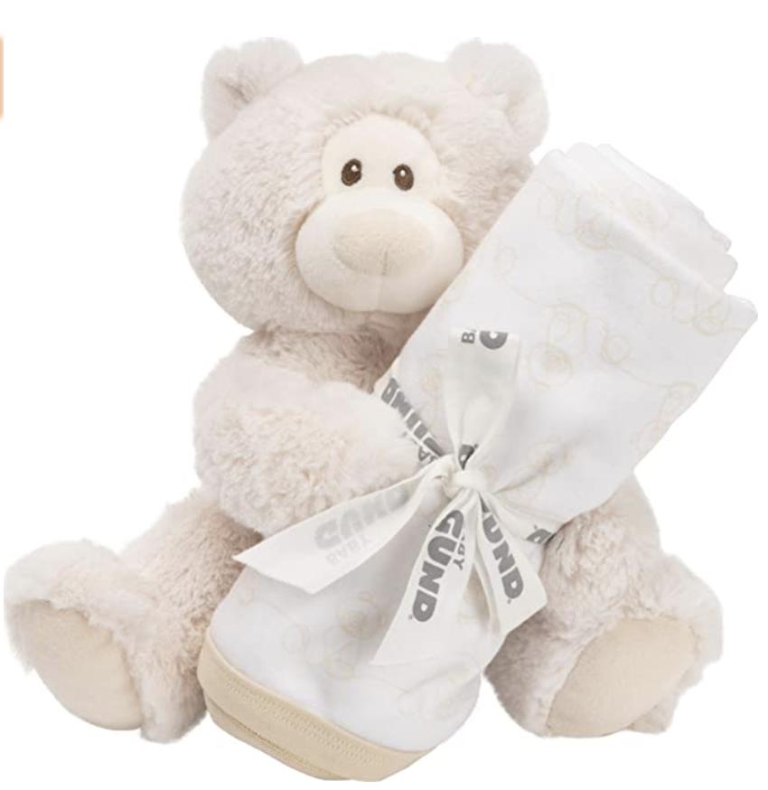 Amazo: GUND Teddy Bear Plush Toy Blanket gift set for