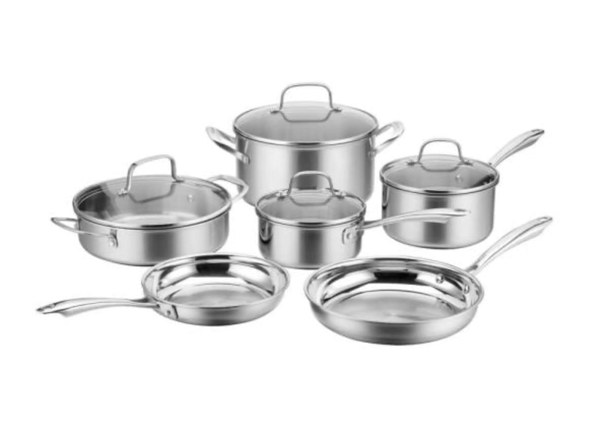 Home Depot: Cuisinart 10-piece cookware set for 6