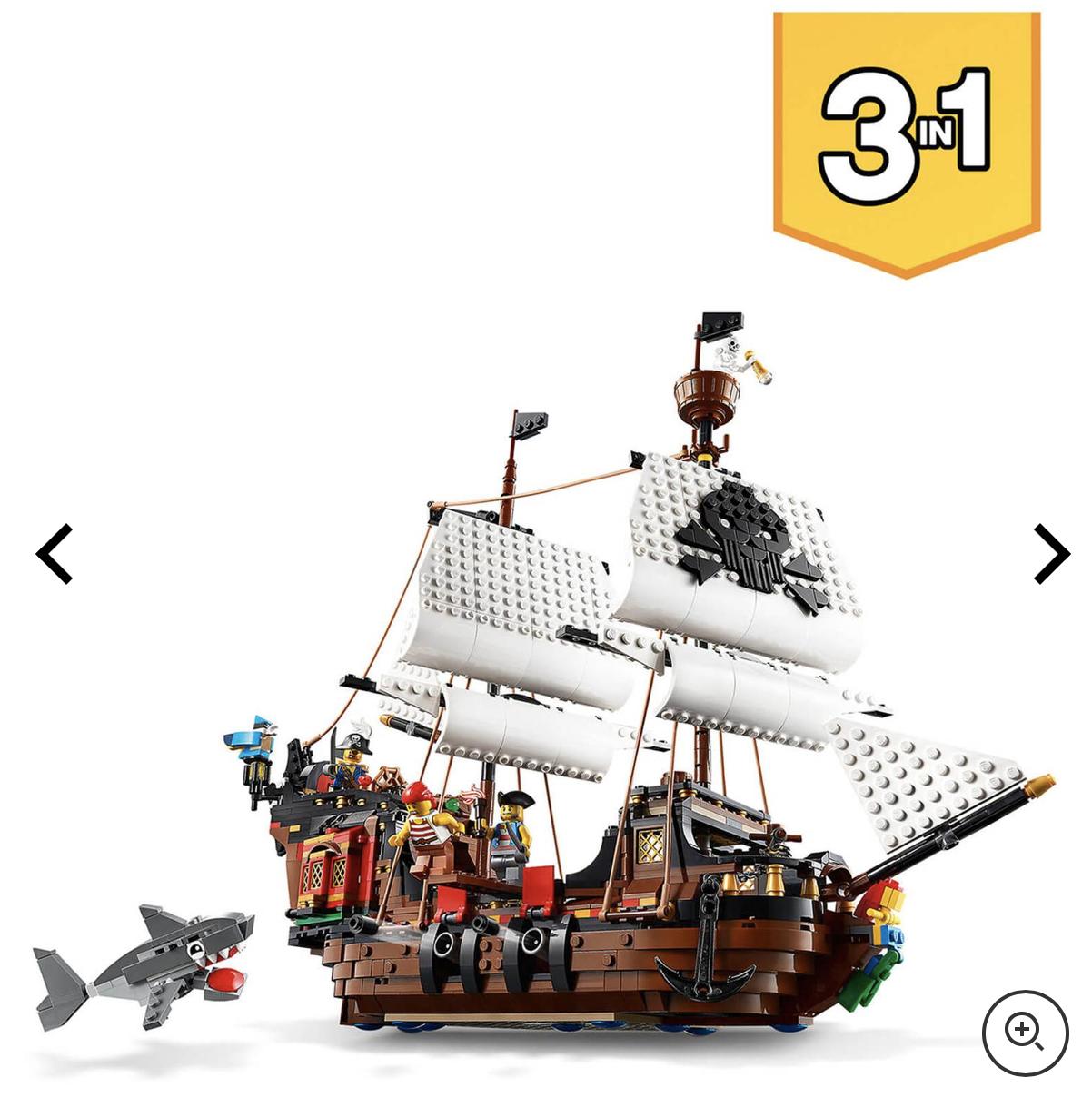 Zavvi: LEGO Creator Priate Ship Set for .99