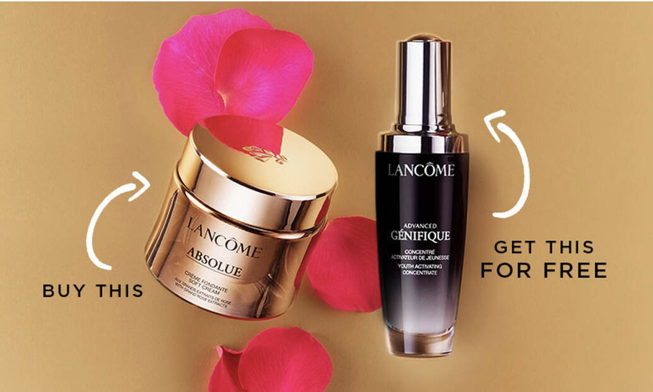 Lancome: 25% off sitewide + Buy full-size, get one Full-size
