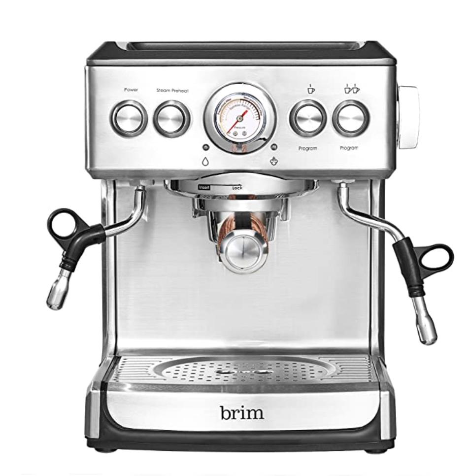 Amazon: Brim 19 Bar Espresso Machine for 0